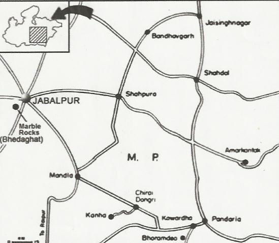 Map of Jabalpur