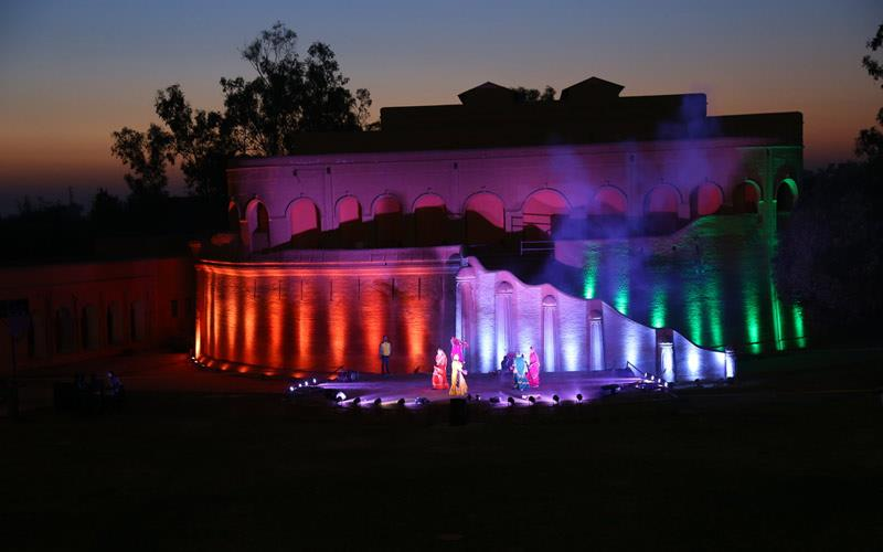 Gobindgarh Fort Tourist Destination Evening