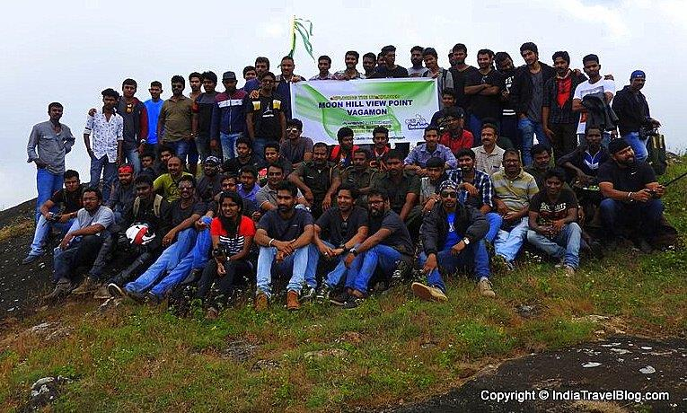 Sanchari Trekking team on Moon Hill Vagamon