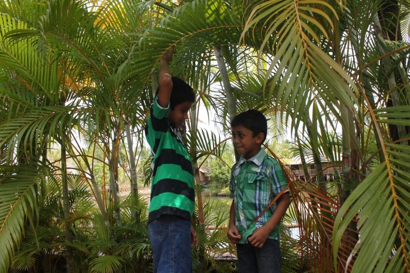 Kids having fun in the Country Club Kochi