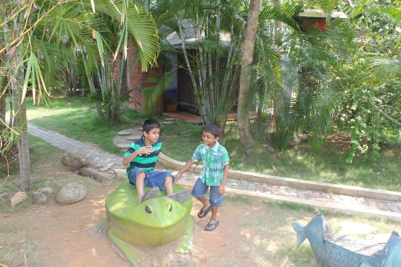 Kids love this frog at the Country Club Kochi