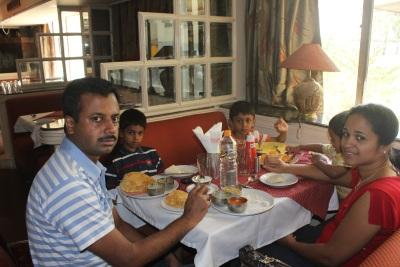 Breakfast at Dynasty restaurant in Mysore