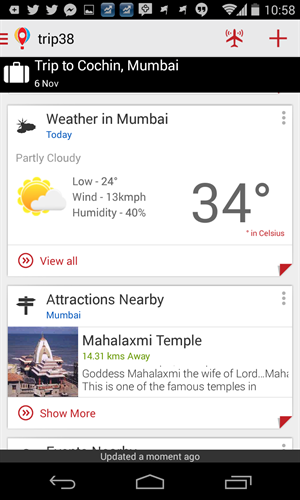 trip38 weather info attractions nearby
