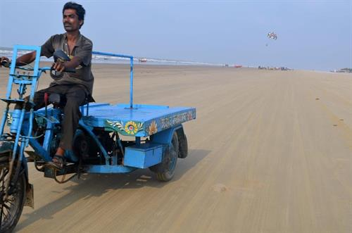 Motorized ride at Mandarmani Beach