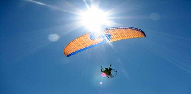 Para Gliding on a sunny day  at Kamshet Near Pune