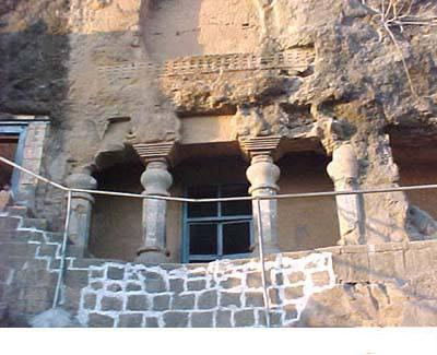 Entrance to Ganesha Cave at Lenyadri  near Pune