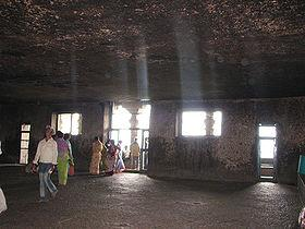 Interior of Ganesha Shrine at Lenyadri near Pune