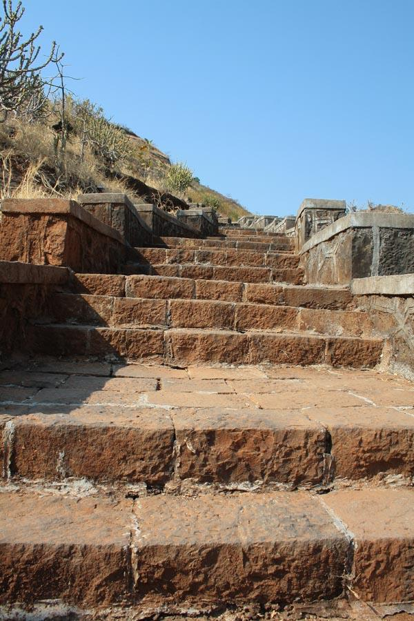 Steps to goto Bedse Caves near Pune City