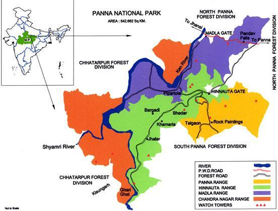 Map of Panna Tiger Reserve