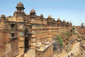 Gwalior fort in Madhya Pradesh state