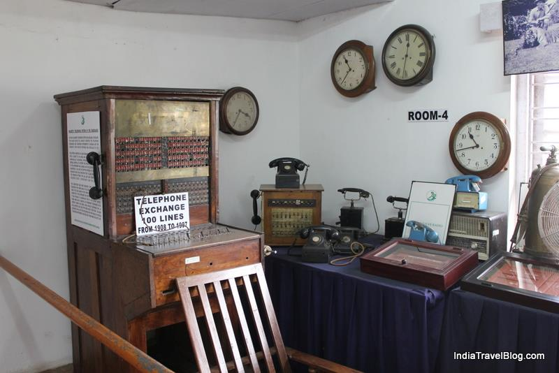 Telephone exchange and old clocks in Tea Museum