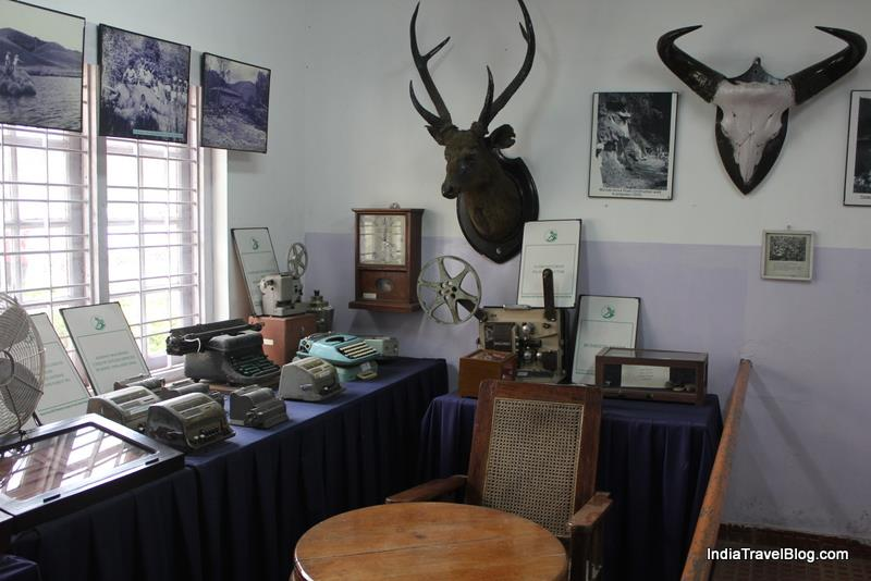 Decades old type writers and furniture in Tea Museum
