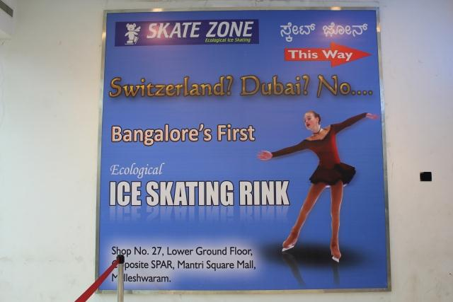 Ice skating in Bangalore