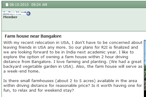 Farm houses for vacation around Bangalore