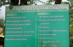 Rules displayed in Pench National Park