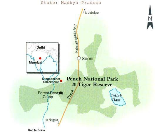 Map of Pench National Park