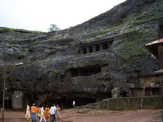 Huge rock caves in Lonavala