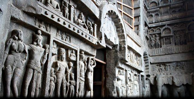 Carving in Karla caves