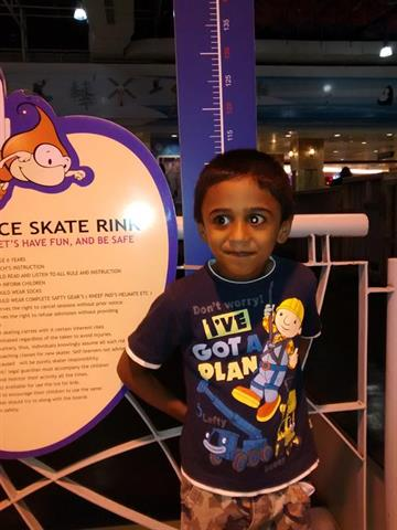 Ice skating in Lulu mall, Kochi