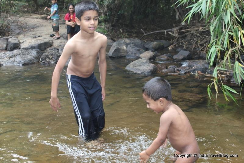 Having fun in the river