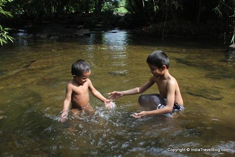 Playing in the water at Paniyeli Poru