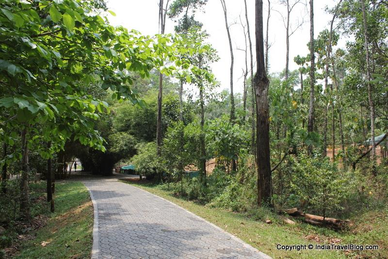 Paved walking trails at Kaprikad