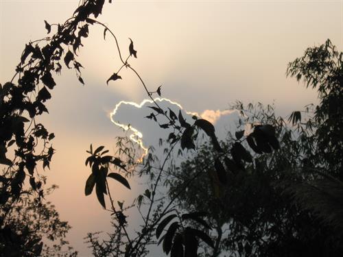 The Sun Setting