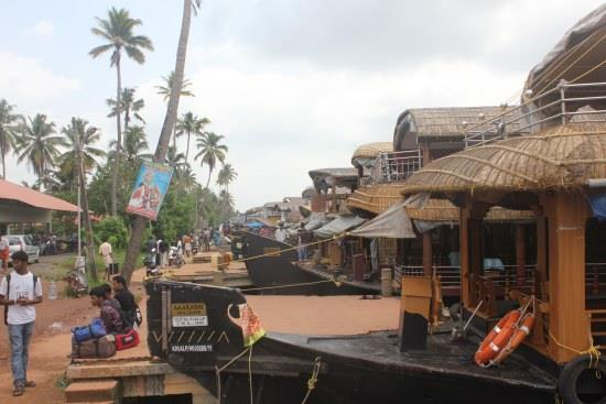Houseboats in Alappuzha