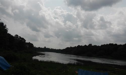 Viewing Pampa from Aranmula