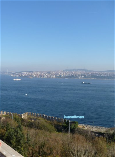View of the Bosphorus Sea from Topkapi Palace