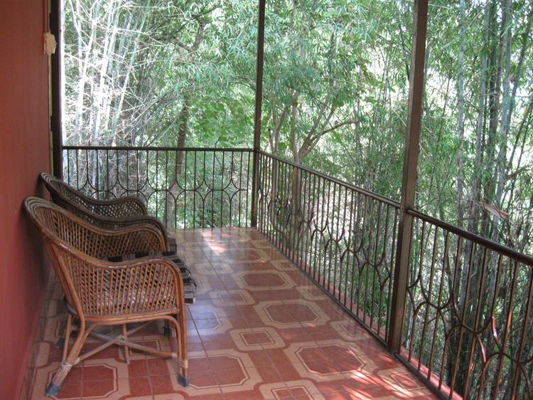The attached balcony