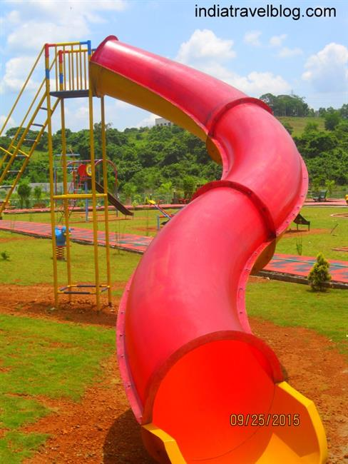 Sliding in Childrens Science Park, in Ernakulam, Kerala