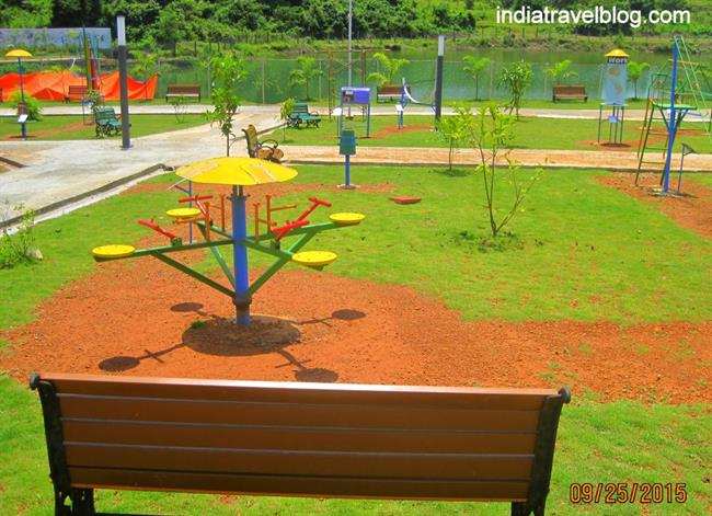 Childrens play area in science park