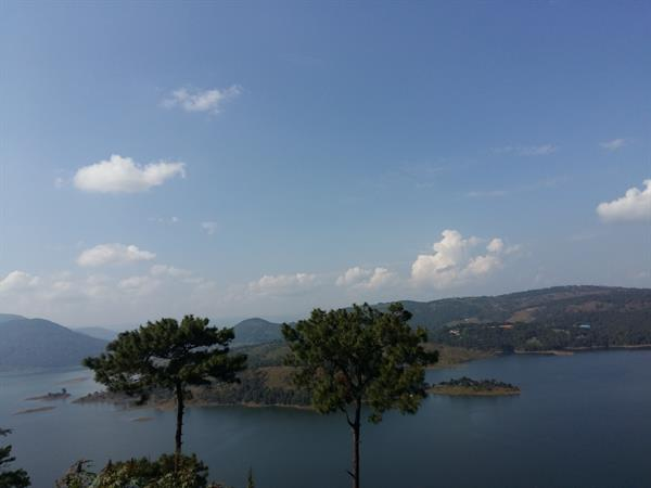 Top view of the Umiam lake