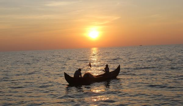 Sunset in Kuzhupilly beach