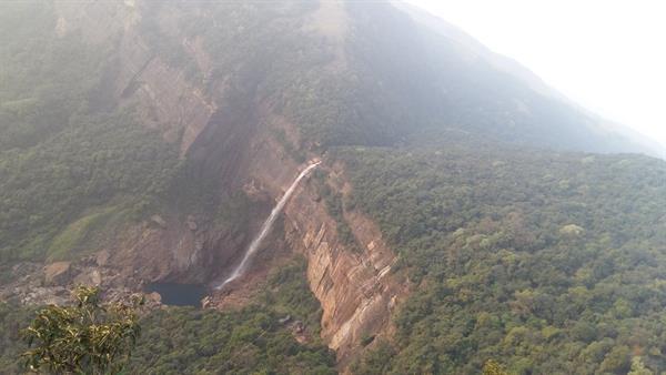View of Nohkalikai falls