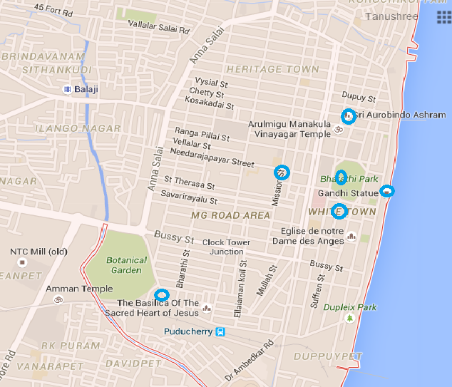Handy Map of Puducherry