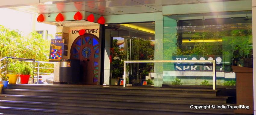 Entrance of Spring Hotel