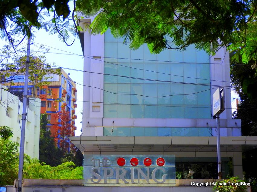The outer view of Spring Hotel in Chennai
