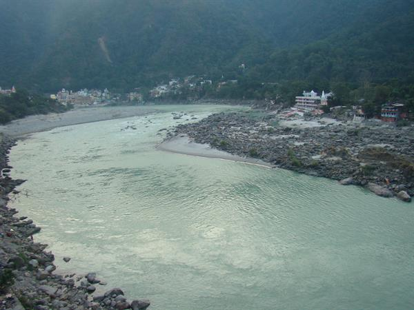 Beautiful Ganga river in Rishikesh