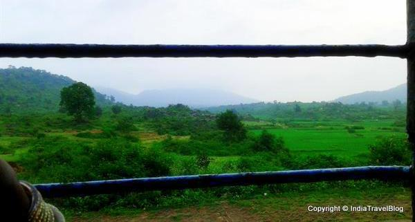 View captured from train early in the morning