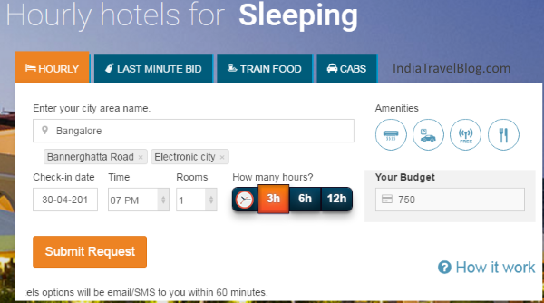 Hourly hotel booking