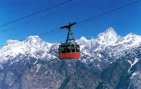 View of the Cable car in Auli