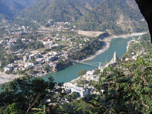 View of the Pilgrimage Town Rishikesh