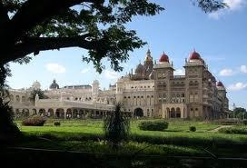 View of the Mysore palace
