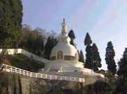 Shanti Stupa or the Peace Pagoda of Darjeeling