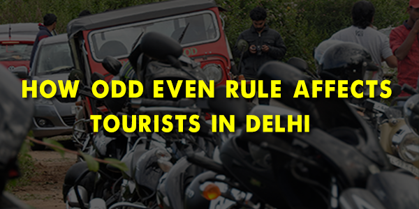 How does the Odd-Even system affect the tourists in Delhi