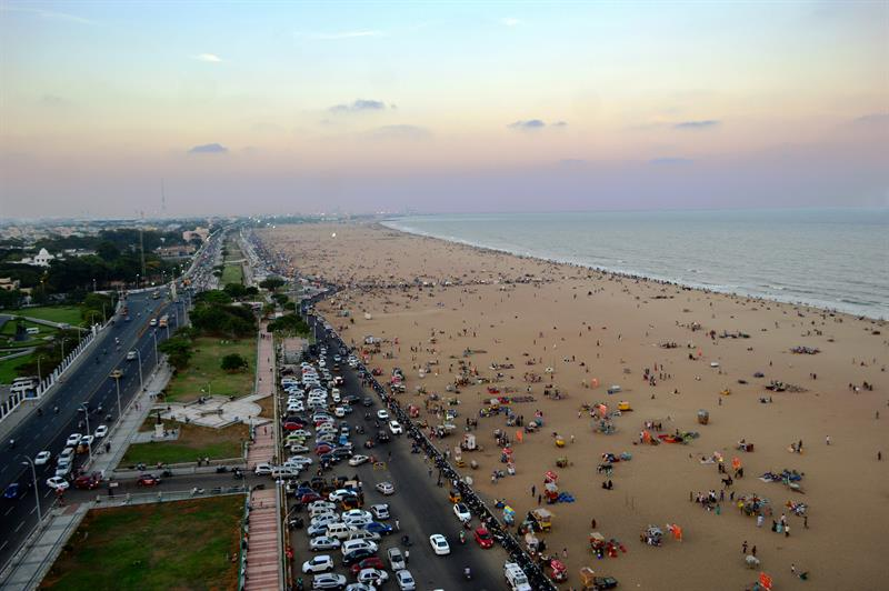 marina beach best tourist place in tamil Nadu