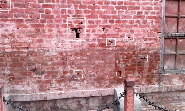 Bullet marks in Jallianwala Bagh