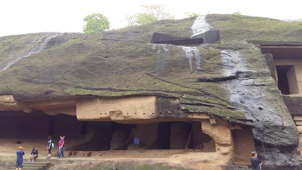 Inside the Kanheri caves